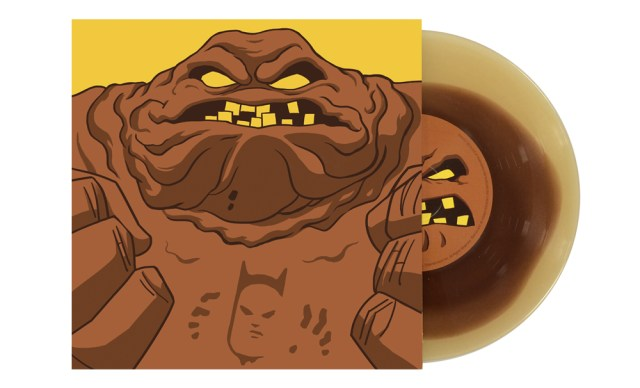 Clayface Artwork by Gary Pullin Pressed on brown clay vinyl
