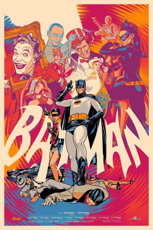 """「バットマン(1966)」バリアント Batman (1966) Variant Poster by Martin Ansin. 24""""x36""""  Edition of 175 US$75"""
