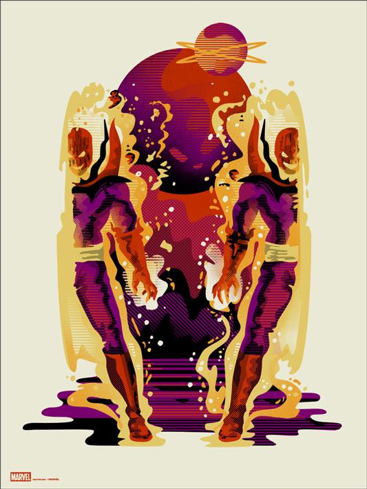 """「ドーマムゥ」 Dormammu Poster by We Buy Your Kids.  18""""x24"""" screen print. Hand numbered. Edition of 110.  Printed by D&L Screenprinting.  US$40"""
