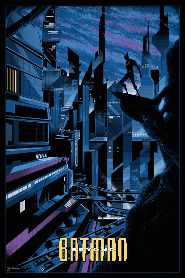 "「バットマン・ザ・フューチャー」 Batman Beyond  by Kilian Eng.  24""x36"" screen print. Hand numbered.  Edition of 325.  Printed by D&L Screenprinting.  US$50"