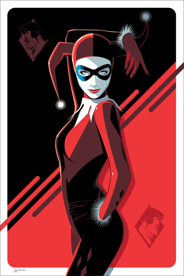 "「ハーレイ・クイン」 Harley Quinn  by Craig Drake.  24""x36"" screen print. Hand numbered. Edition of 225.  Printed by D&L Screenprinting.  US$50"