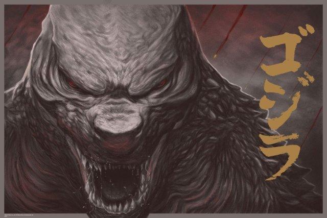 """「ゴジラ(2014)」レギュラー Godzilla by Randy Ortiz. 24""""x36"""" screen print. Hand numbered. Edition of 275. Printed by D&L Screenprinting.  US$45"""