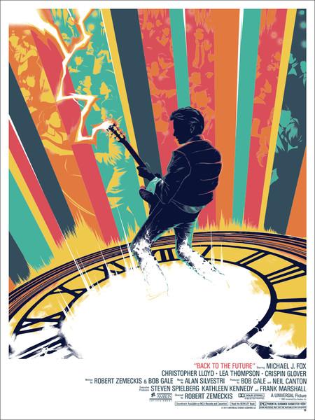 """「バック・トゥ・ザ・フューチャー 」 Back to the Future  by Matt Taylor 18"""" X 24""""  Edition of 225"""
