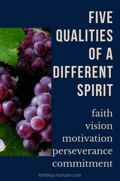 Five qualities of a different spirit