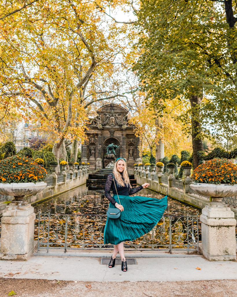Luxembourg Gardens in Paris in fall