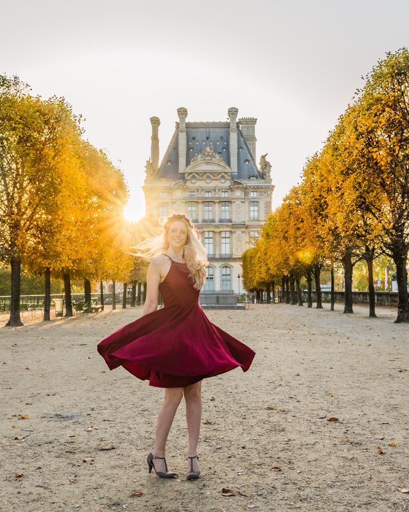 Tuilerie Garden in Paris in fall