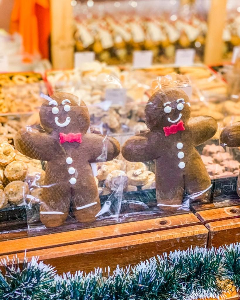 Gingerbread men in the Christmas market Strasbourg - Alsace