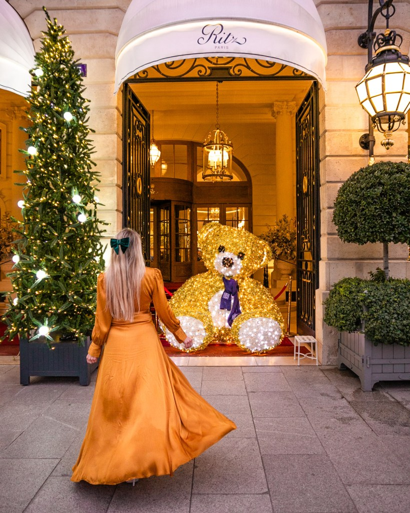 Christmas Teddy Bear at the Ritz Hotel in Place Vendôme - Christmas in Paris