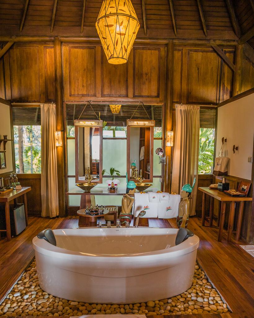 Villa Inle Boutique Resort, bathroom in the villa - Inle Lake, Myanmar