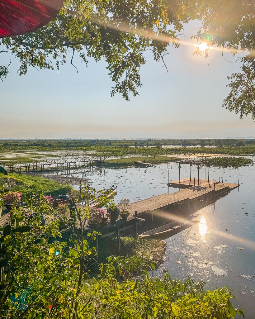 Villa Inle Boutique Resort, view - Inle Lake, Myanmar