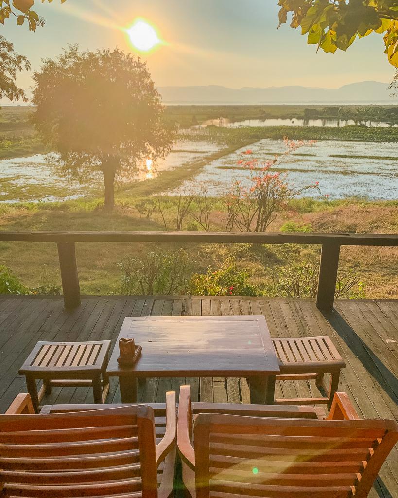 Villa Inle Boutique Resort, villa balcony - Inle Lake, Myanmar