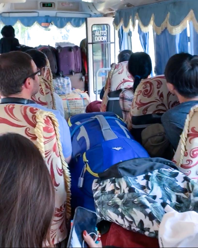 OK Express Bus Bagan-Mandalay, Myanmar