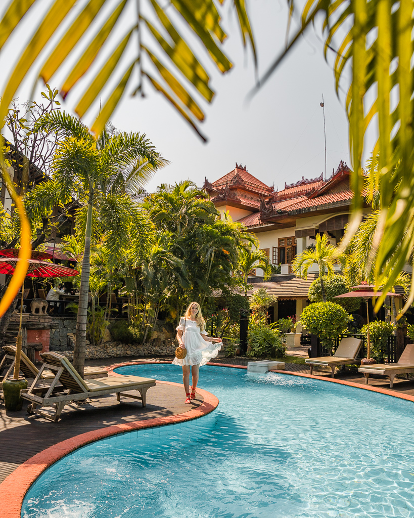 Hotel by the Red Canal in Mandalay, Myanmar