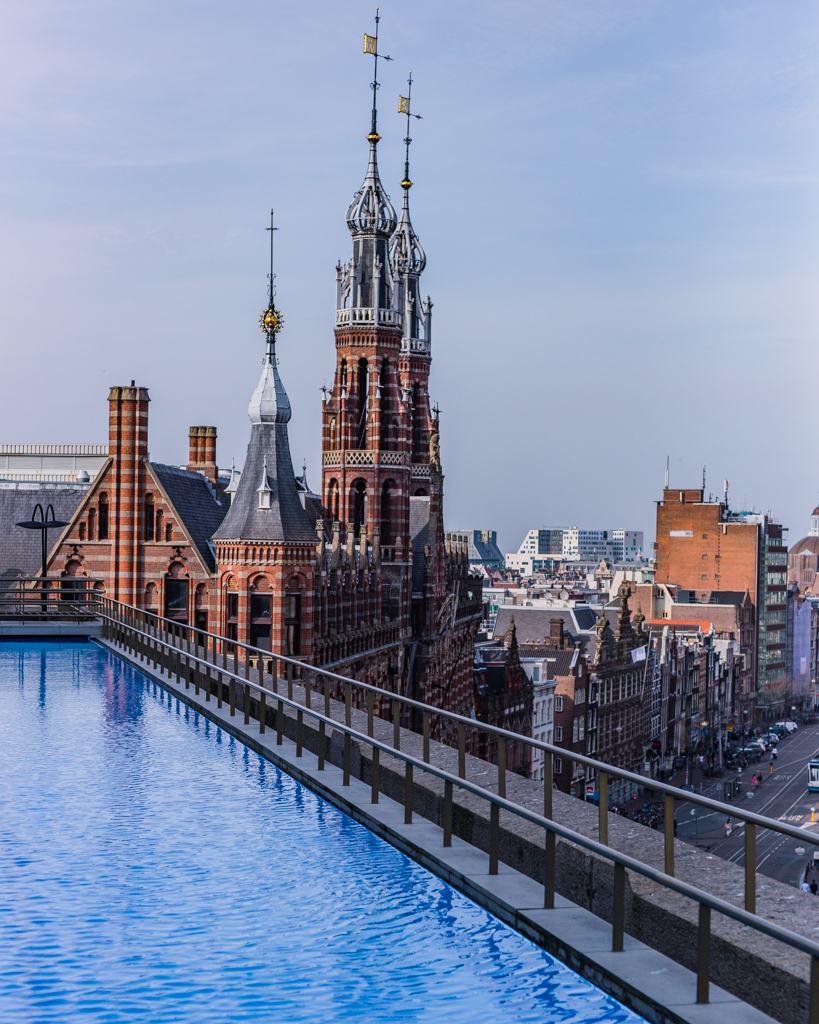 Rooftop of the W Hotel in Amsterdam
