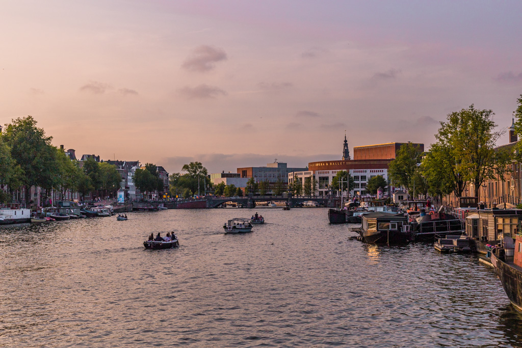 Amstel River in Amsterdam - The Netherlands