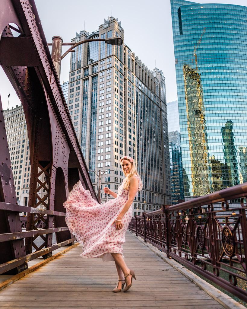 Franklin-Orleans Street bridge in Chicago
