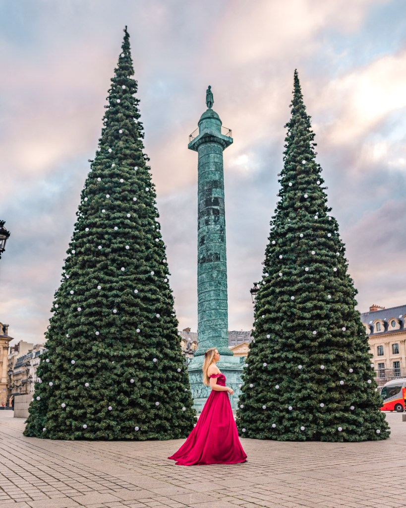 Giant Christmas trees Place Vendôme - Christmas in Paris