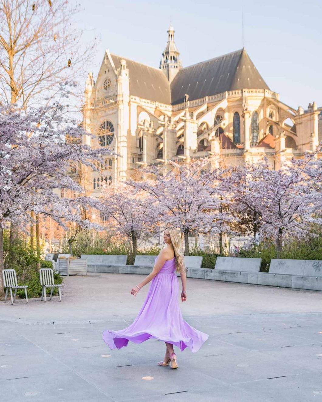 Blooms at Eglise Saint Eustache - Châtelet Les Halles in Paris