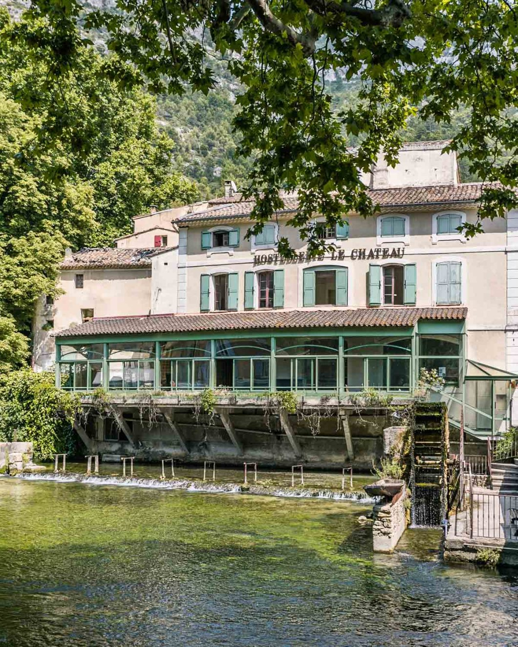 The village of Fontaine-de-Vaucluse in Provence