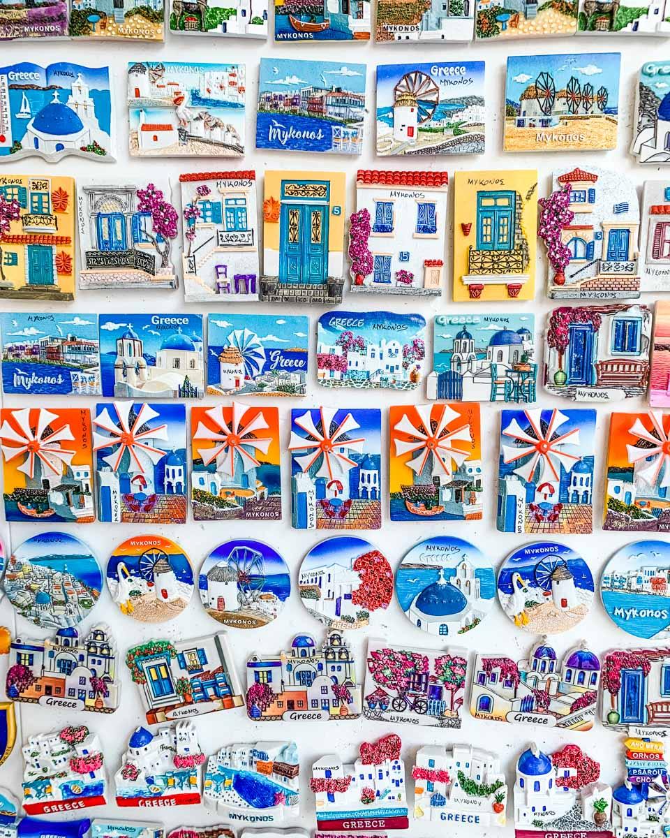 Magnets - souvenirs of Mykonos