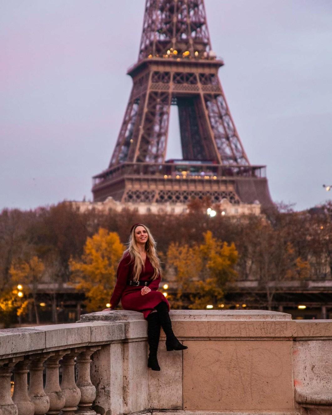 Pont de Bir Hakeim with the Eiffel Tower
