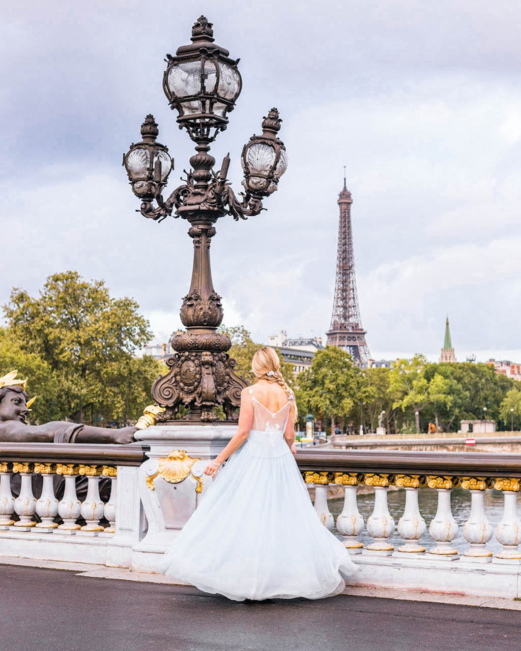 Pont Alexandre III with the Eiffel Tower