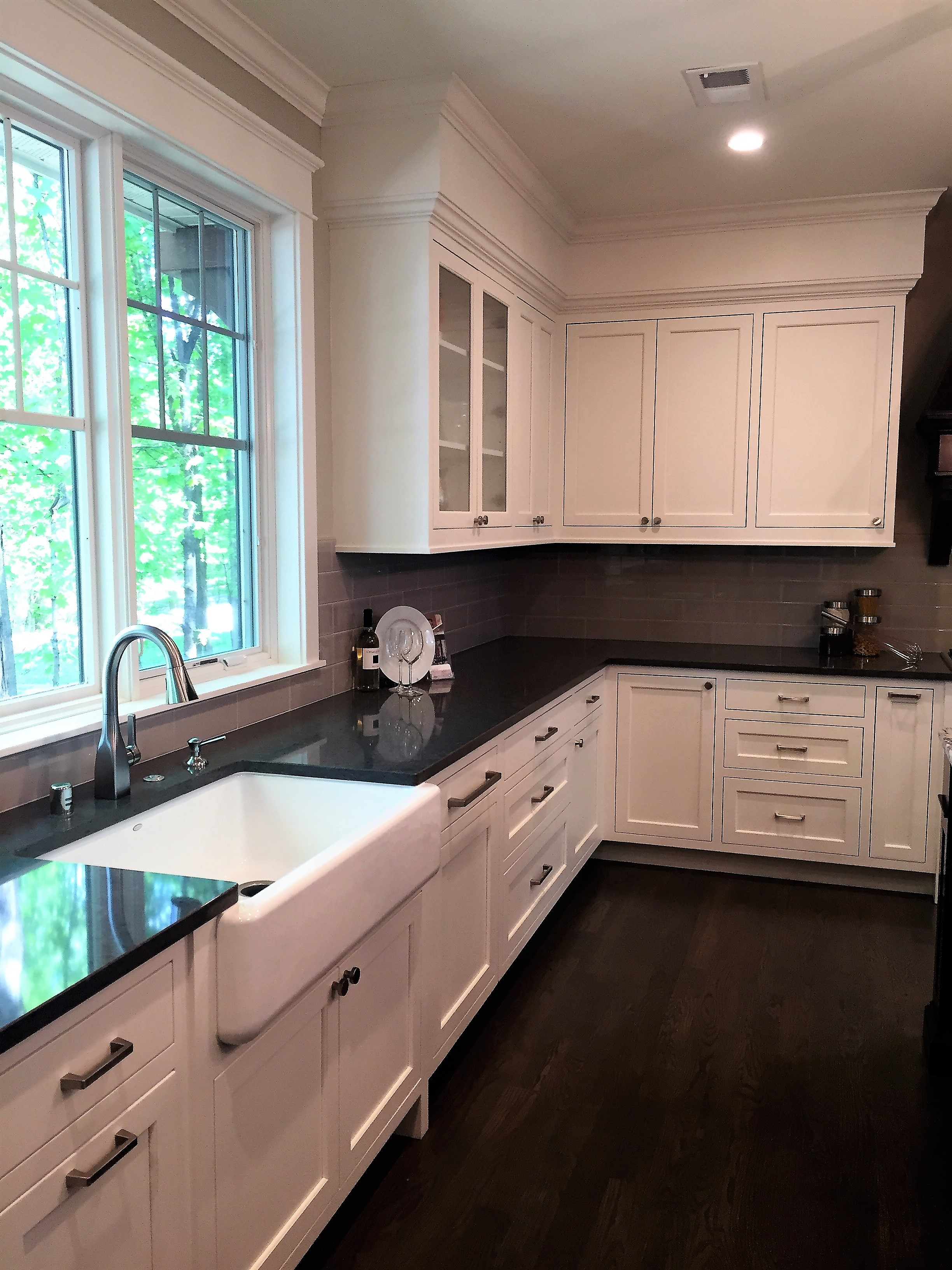 White Kitchen with dark counters