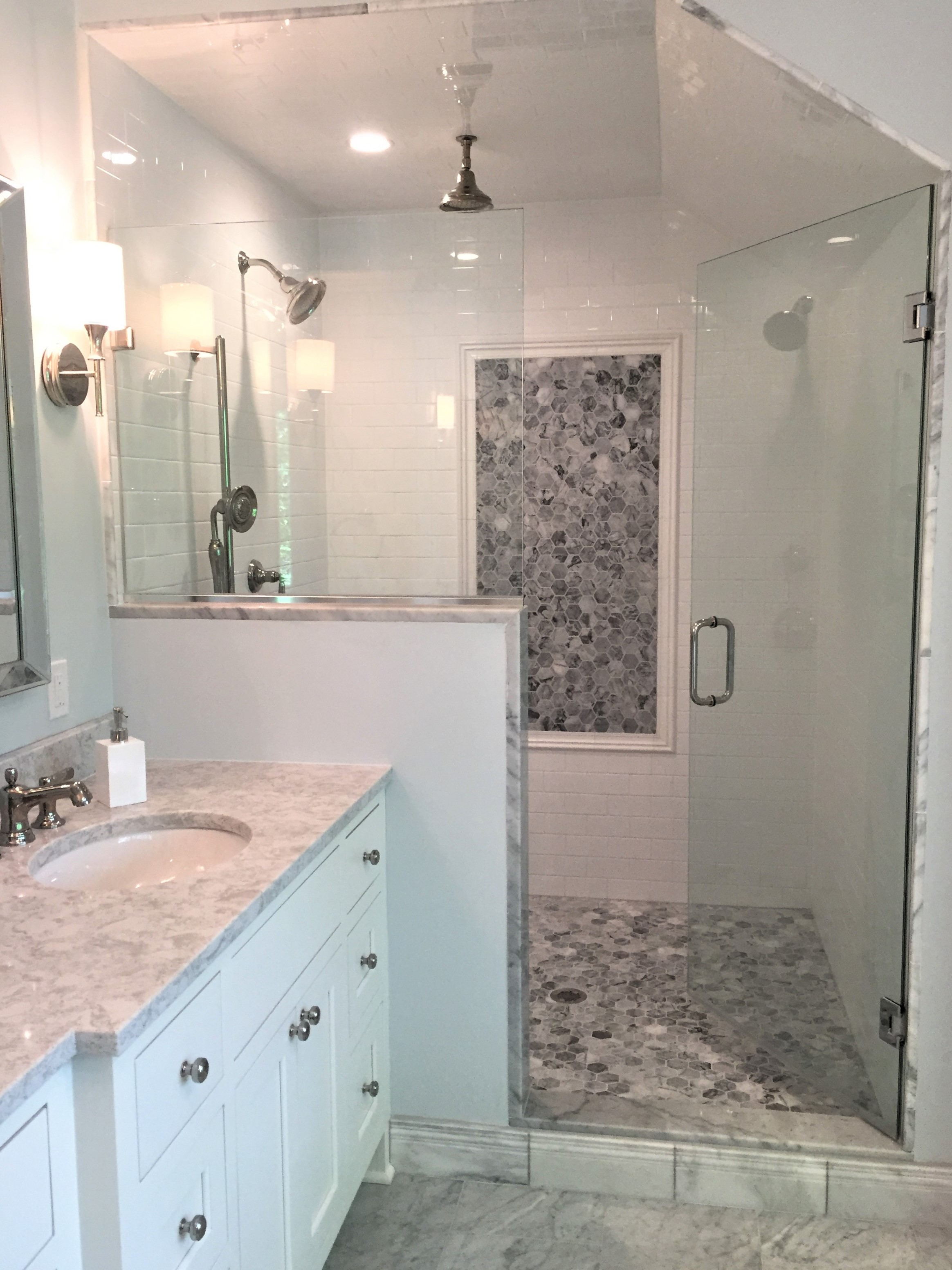 Picture of shower in master bathroom