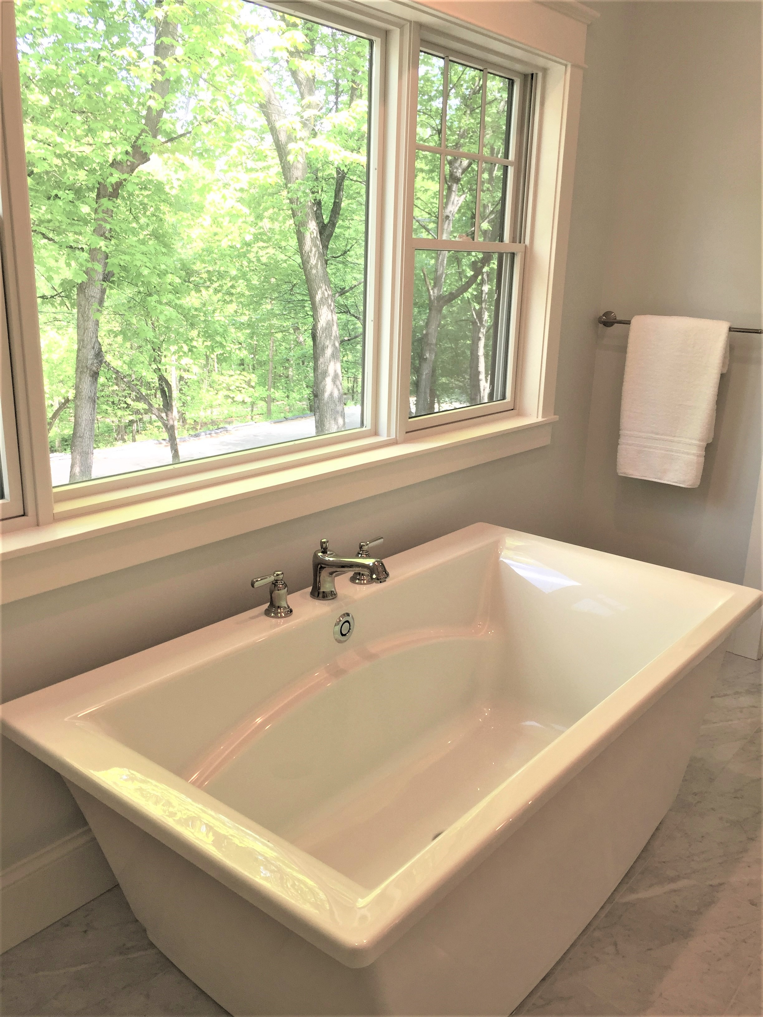 Tub in master bathroom