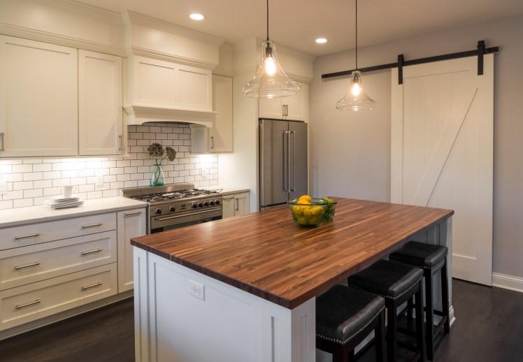 Kitchen with Barn Door