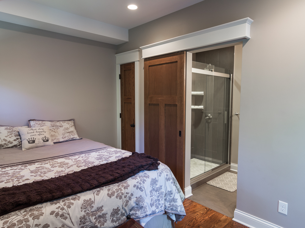 Upscale Barn Door with Elegant Cornice