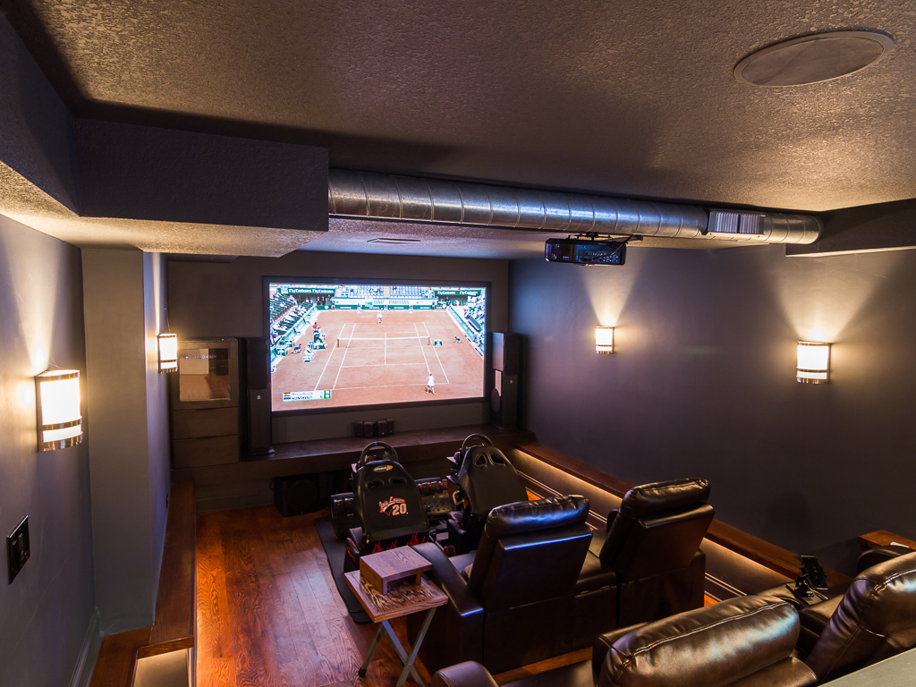 Home Theater with Nascar Simulators