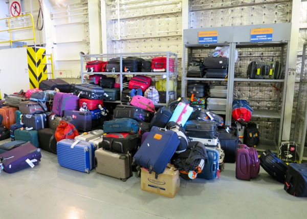 luggage storage blue star ferry - TIPS FOR TRAVELING BY FERRY IN GREECE