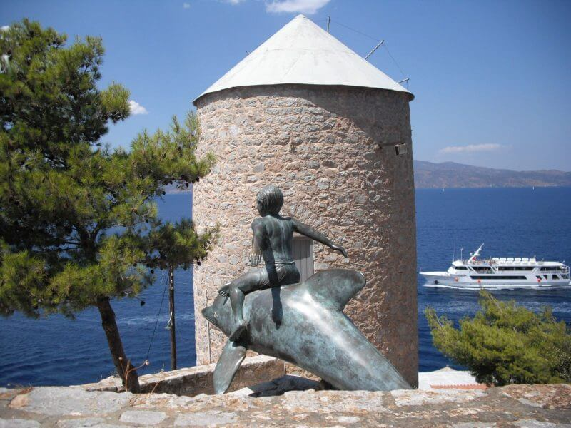 boy on a dolphin - 15 TOP THINGS TO DO IN HYDRA ISLAND GREECE