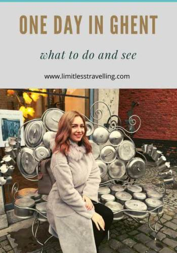 Teal and White Minimalist Photo Grid Recipe Pinterest Graphic - One Day in Ghent: the best of what to do and see