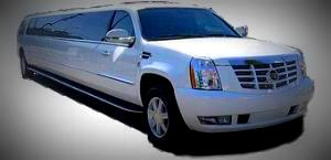 Picture of white Escalade Limo