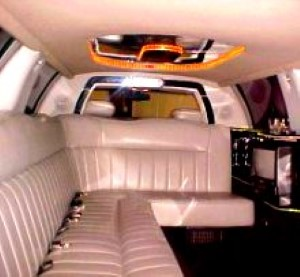 Picture of the inside of a limo in Connecticut