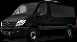 Picture of Black Mercedes Sprinter van