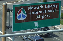 Image of Newark Liberty International Airport sign