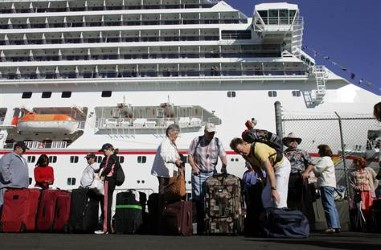 Image of people Boarding A Cruise Ship