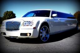 White Chrysler 300 Stretch Limo