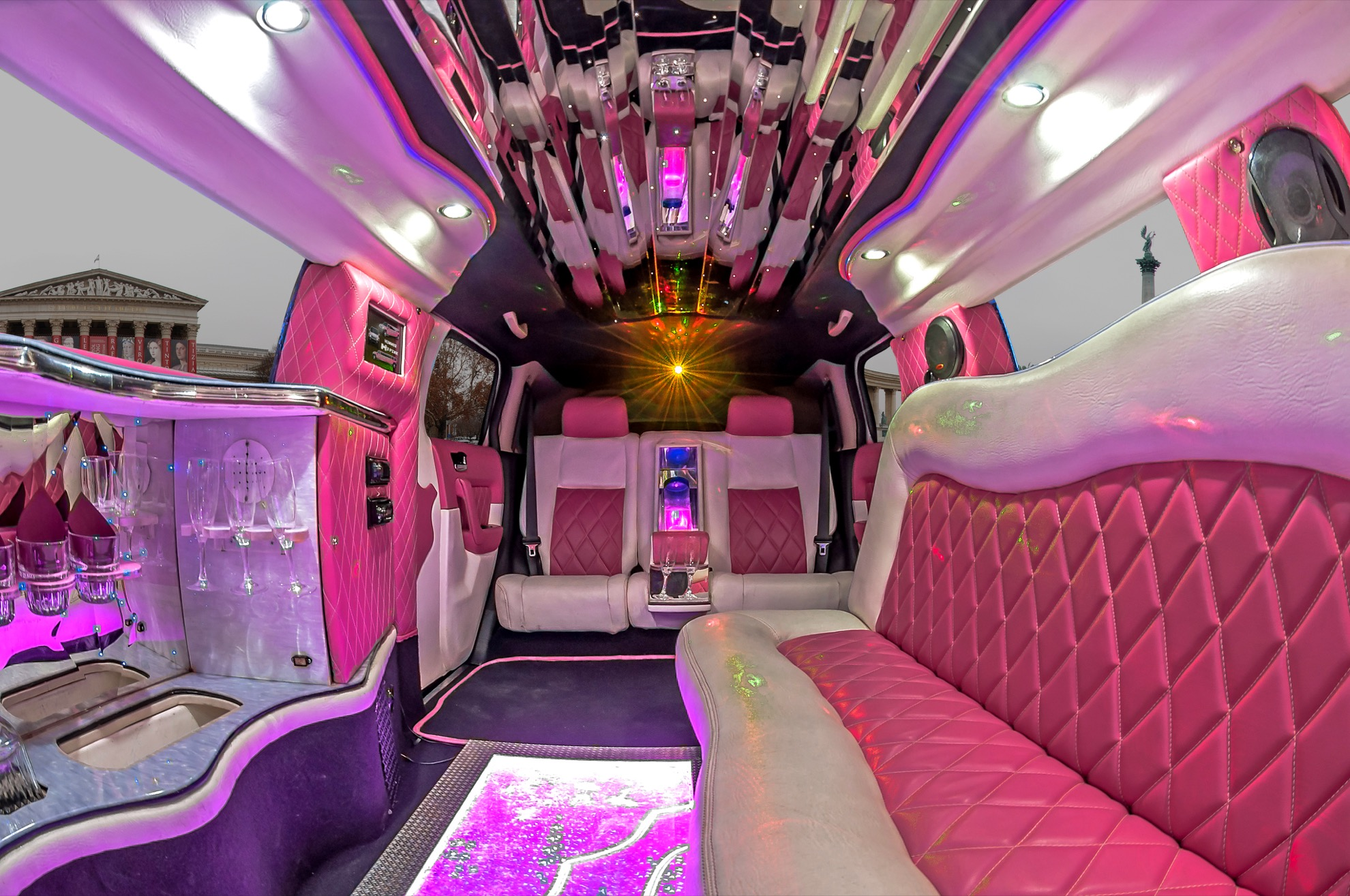 Rent a Hummer H3 Pink Limousine in Budapest Limo King Limo King