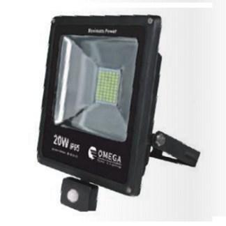 תאורת הצפה לד 20W עם חיישן