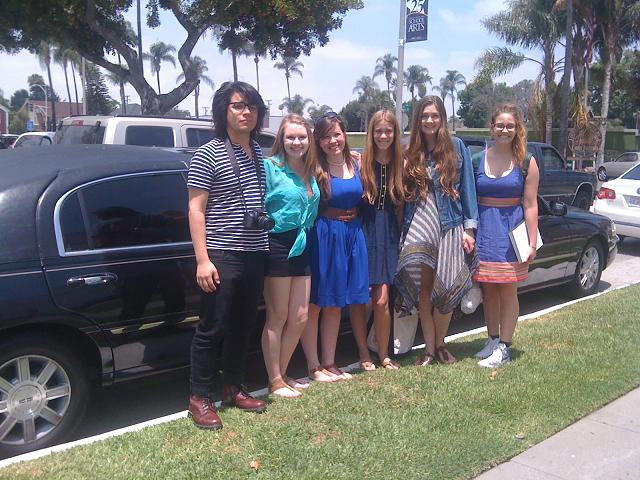 Orange County Limousine Service for daughter's graduation gift (she just graduated Orange County High School of The Arts OCHSA)