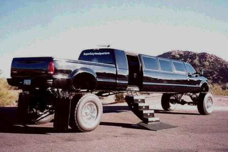 "Redneck Limo Truck with complimentary ""chew"". Fits 2 deer in back."