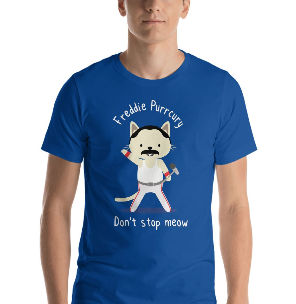 Freddie Purrcury don't stop meow shirt