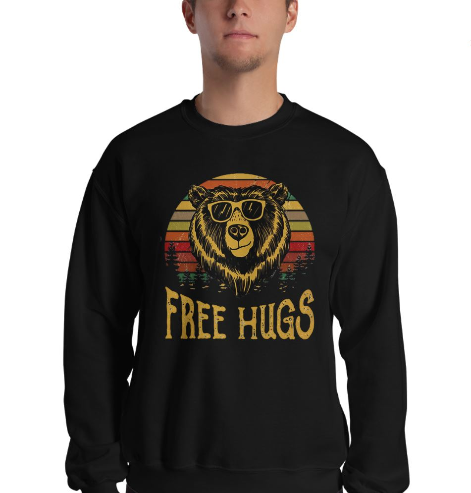 Free Hugs Bear sunset shirt