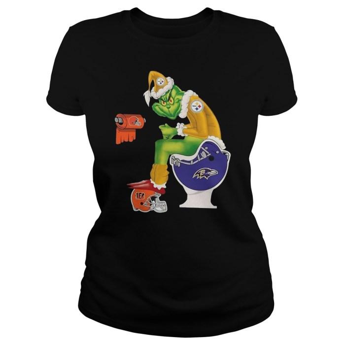 Pittsburgh Steelers Santa toilet shirt