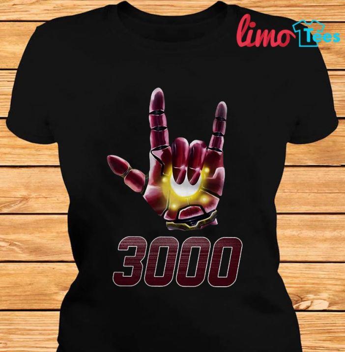 Iron man I love you 3000 sign language t-shirt