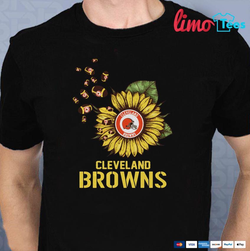 Cleveland Browns sunflower shirt